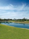 Golf Course lake Royalty Free Stock Photo