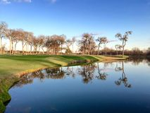 Golf Course Lake Stock Photography