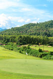 Golf course landscape. Beautiful green golf course landscape, Golfing resort at Lamphun Province, Thailand royalty free stock images