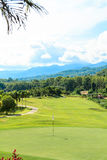Golf course landscape. Beautiful green golf course landscape, Golfing resort at Lamphun Province, Thailand royalty free stock photography