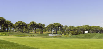 Golf Course landscape for beginners Stock Photos