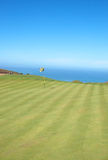Golf Course Landscape By The Ocean Royalty Free Stock Photo