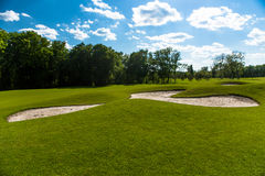 Golf course landscape Stock Image
