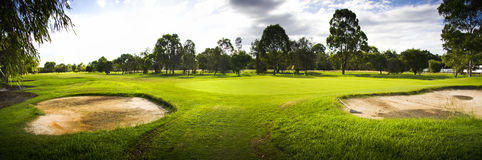 Golf Course Landscape Panorama Stock Photos