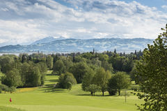 Golf course Lindau, Lake Constance Royalty Free Stock Images