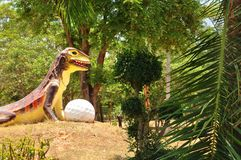 Golf course. Logo show a big chameleon and golf ball at KhonKaen Thailand.Taken photo on April 4, 2013 stock photography