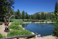 Golf Course in Mammoth Lakes, CA stock photography