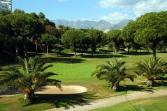 Golf course, Marbella, Spain. Stock Photography