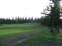 Golf course in maui, hawaii Royalty Free Stock Photos