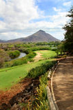 Golf course in Mauritius island royalty free stock photos