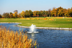 Golf course in Mezhigirya Stock Images