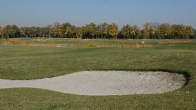 Golf course in Mezhigirya. NOVI PETRIVTSI, UKRAINE - OCTOBER 14: Golf course in Mezhigirya on October 14, 2014 in Novi Petrivtsi, Ukraine. It is former residence stock video footage