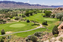 Golf Course in Moab Spanish Valley Royalty Free Stock Photography