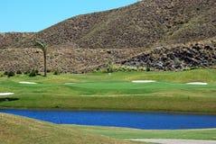Golf course, Mojacar. Stock Photos