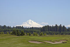 Golf Course with Mountain 2 Royalty Free Stock Image