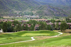 Golf Course in the mountains Royalty Free Stock Photos