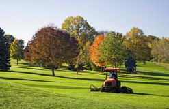 Golf Course Mower Stock Photography