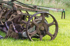 Golf course mower closeup Royalty Free Stock Image