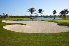 Golf course. Nassau golf course, Paradise island Royalty Free Stock Images