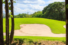 Golf course in nature Royalty Free Stock Photo