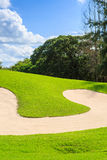 Golf course in nature Stock Photography