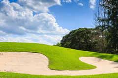Golf course in nature Royalty Free Stock Images