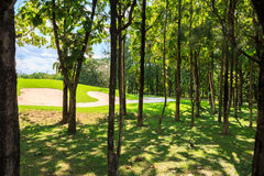 Golf course in nature Royalty Free Stock Photography
