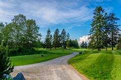 Golf Course near Fort Langley Stock Photography