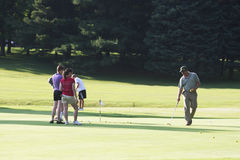 On the golf course Royalty Free Stock Images
