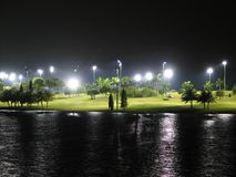 Golf Course - Night. Night View of Golf Course royalty free stock images