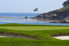 Golf Course on the Ocean Royalty Free Stock Photography