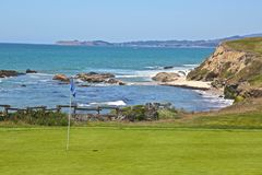 Golf course ocean Royalty Free Stock Images