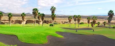 Golf course panorama Stock Photo