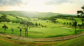 Golf course panorama royalty free stock image