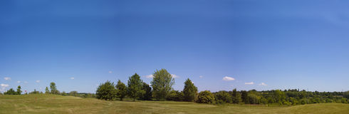 Golf course panorama royalty free stock images