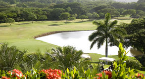 Golf Course in Paradise Royalty Free Stock Photography
