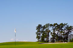 Golf course pin Royalty Free Stock Photography