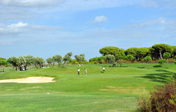 Golf course, players, Andalusia, Spain Stock Photo
