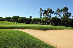 Golf course, players, Andalusia, Spain Royalty Free Stock Photo