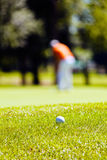 golf course with players Royalty Free Stock Photography