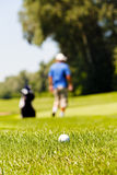 golf course with players Royalty Free Stock Photos