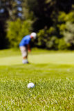 golf course with players Royalty Free Stock Images