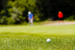 golf course with players Royalty Free Stock Image