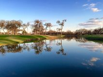 Golf Course Pond Royalty Free Stock Images