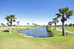Golf course in Portugal Stock Photos