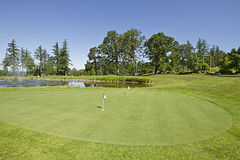 Golf Course Putting Green Royalty Free Stock Image