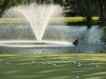 Golf Course putting green Royalty Free Stock Photos