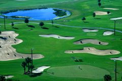 A golf course resort Royalty Free Stock Photo