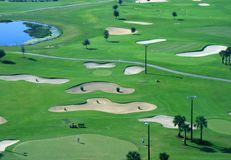 A golf course resort Royalty Free Stock Photography