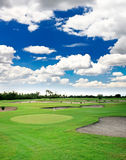 A golf course resort Royalty Free Stock Image